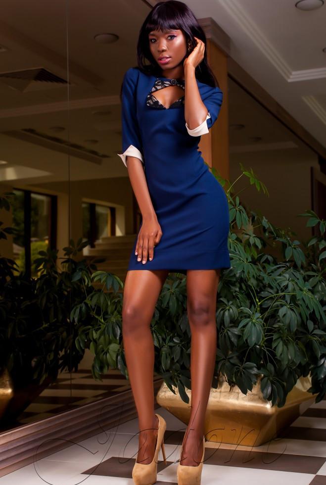 Платье Клори тёмно-синий l