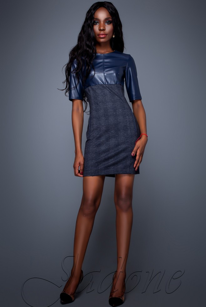 Платье Марни тёмно-синий xl