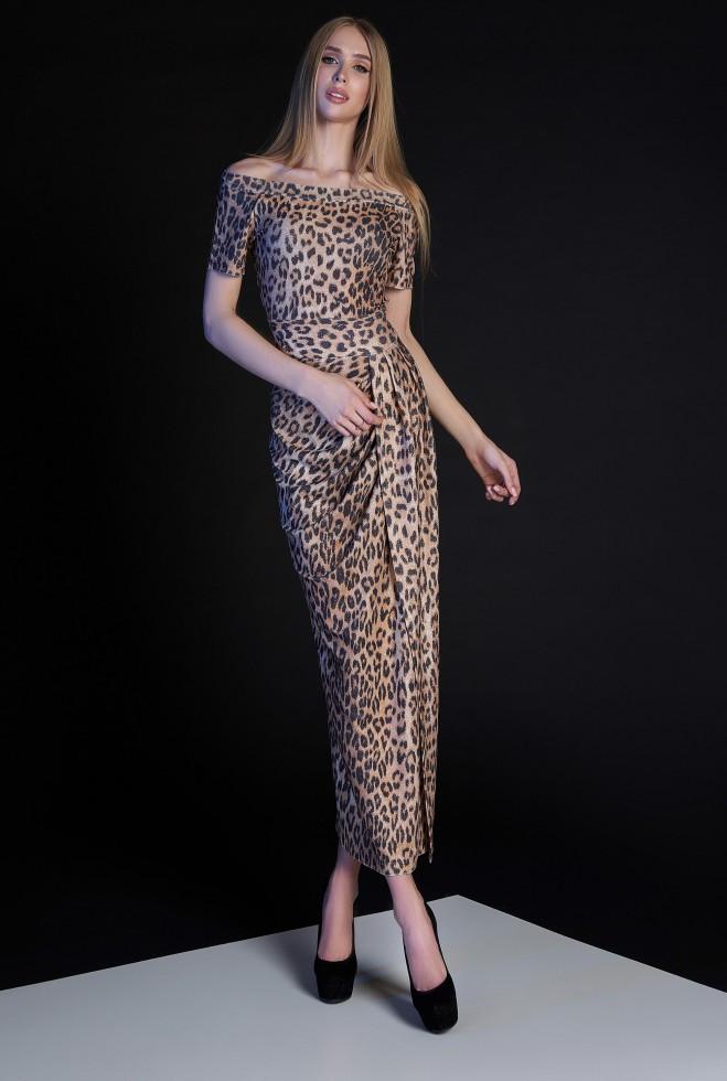 Платье Айша коричневый m