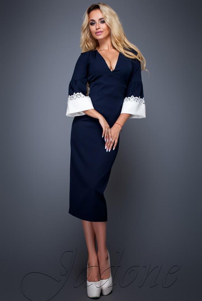 Платье Полит тёмно-синий l