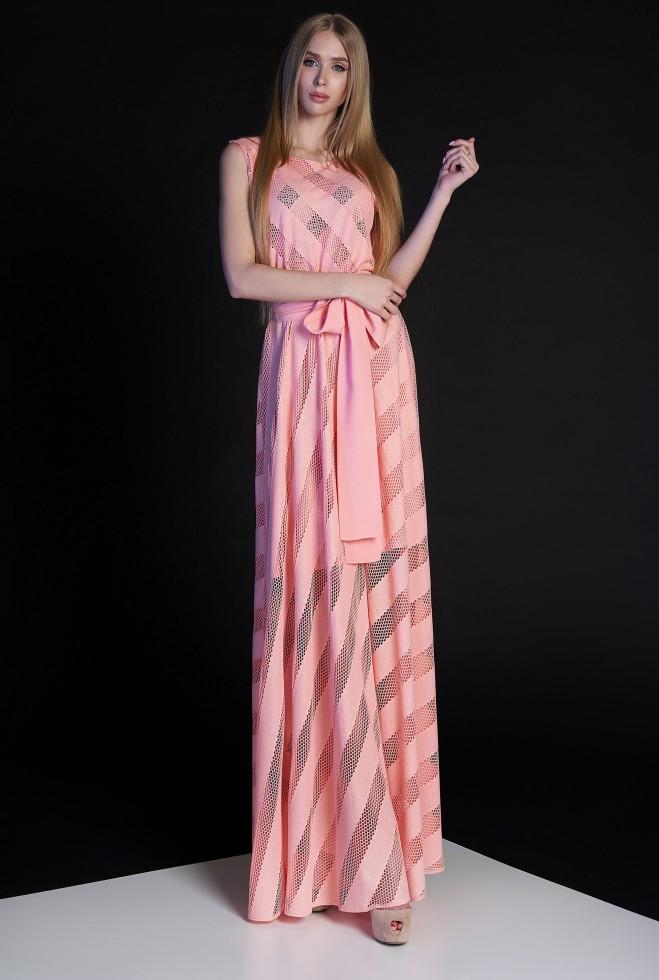 Платье Раяна персиковый xl