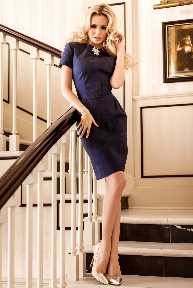 Платье Мовалли тёмно-синий l