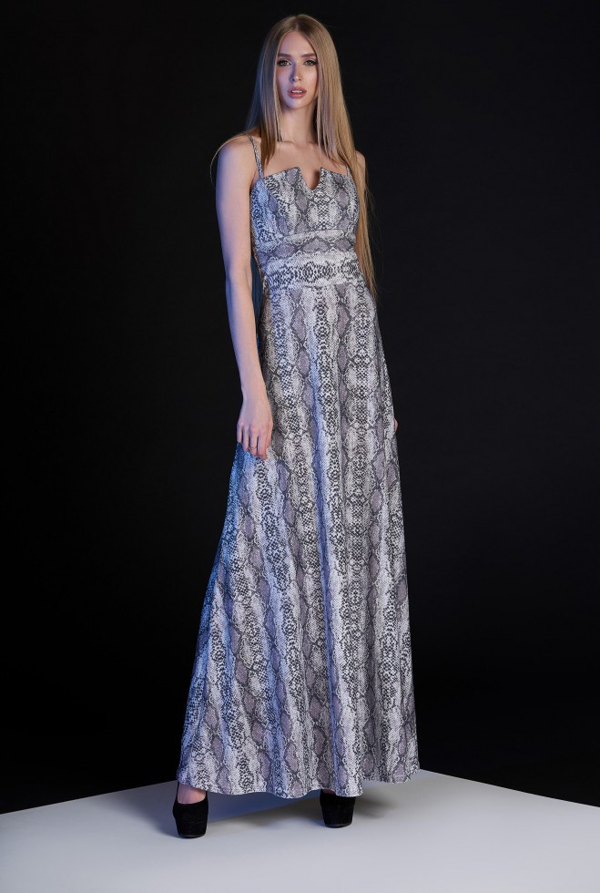 Платье Габи серо-лиловый m