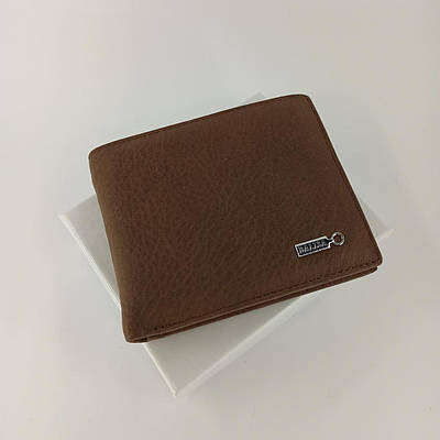 Черный кожаный мужской кошелек портмоне с зажимом для денег Balisa  B86-208I.