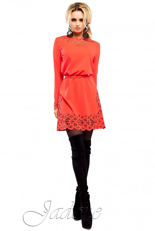 Платье Фарина красный s