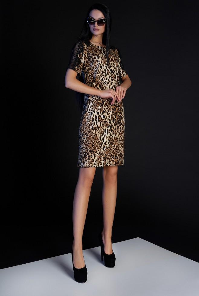 Платье Лайт без пояса коричневый l