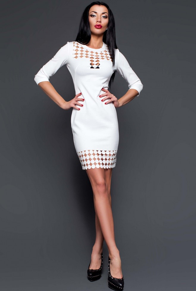 Платье-туника Анит молочный xl