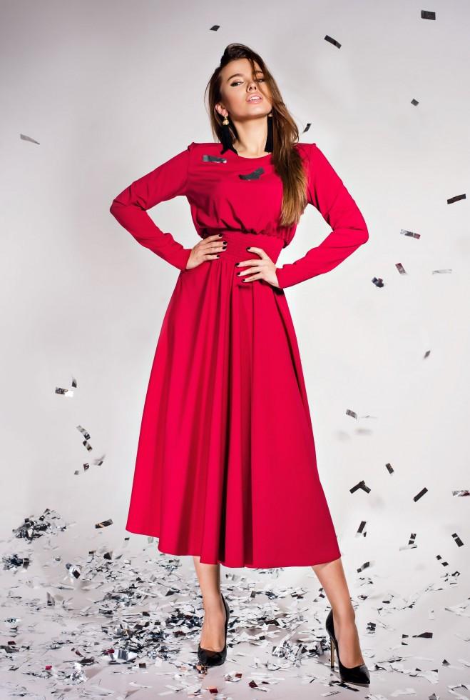 Платье Ариэль  винный m
