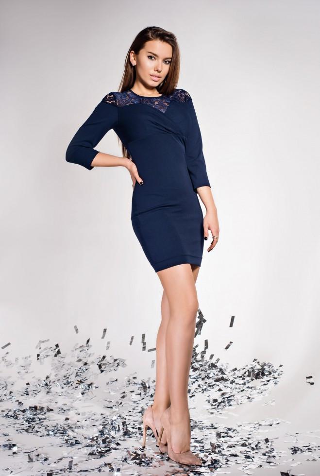 Платье Картье тёмно-синий s