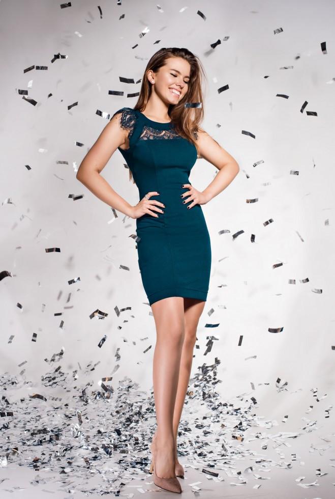 Платье Ливия Изумруд xl