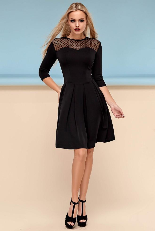 Платье Долорес без пояса черный s