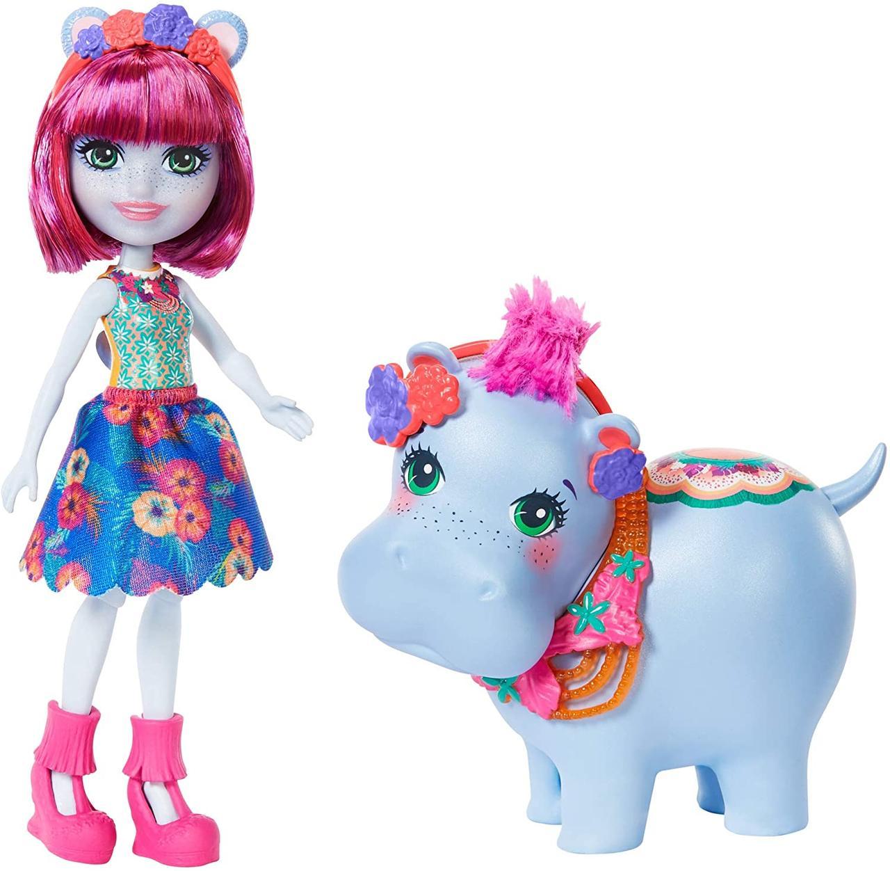 Кукла Энчантималс Хедда Хиппо бегемот Enchantimals Hedda Hippo Lake оригинал хэдда и бегемотик лейк