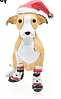 Обьемная Брошь брошка значок джек рассел терьер пес собака металл эмаль НОВЫЙ ГОД ДЕД МОРОЗ, фото 4
