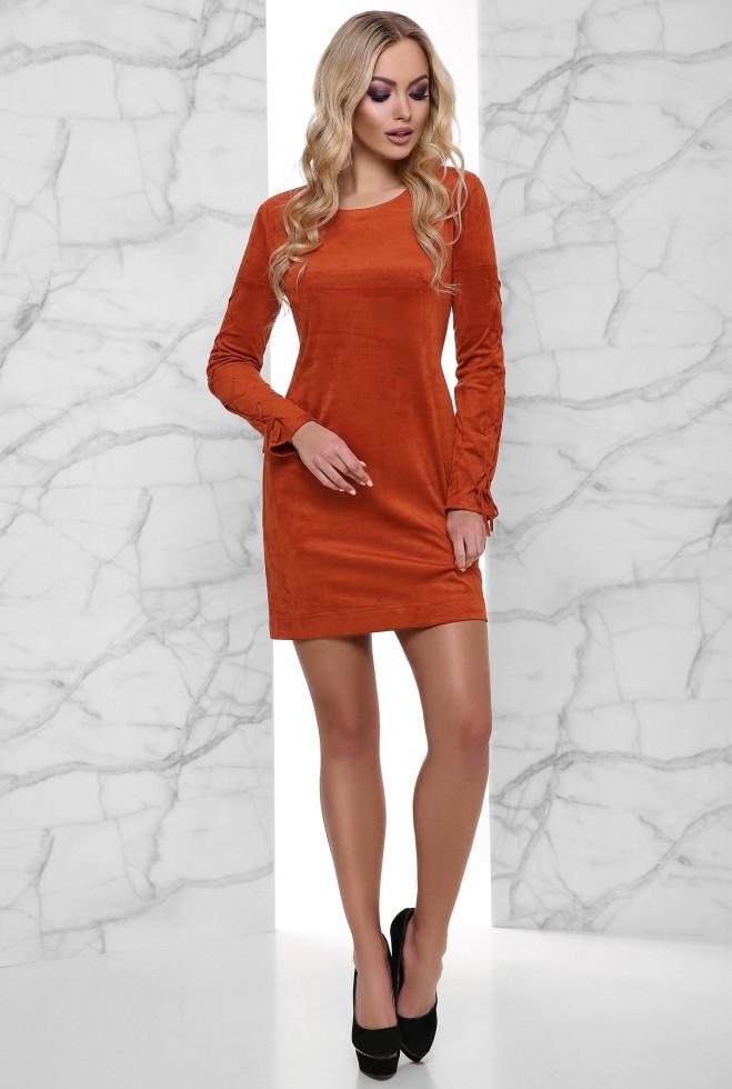 Платье Дениз кирпичный xl