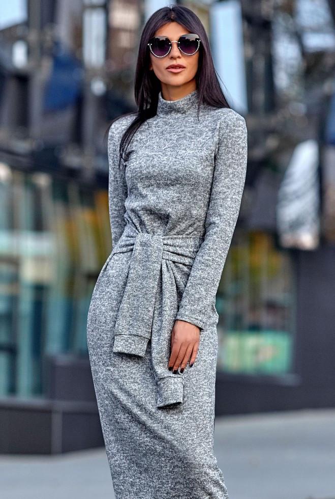Платье Линда серый m