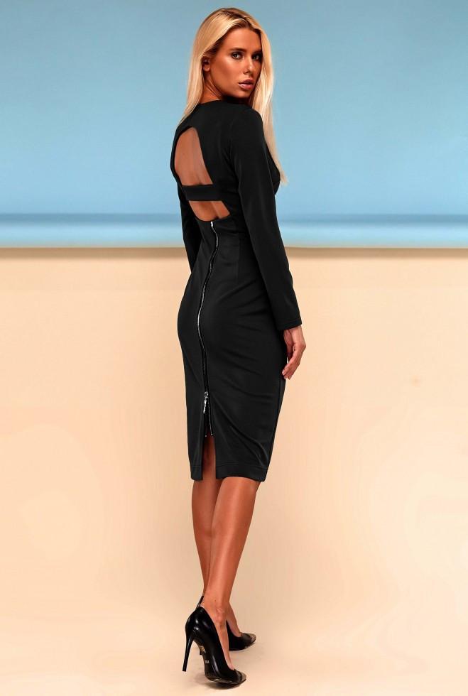 Платье Заира черный s
