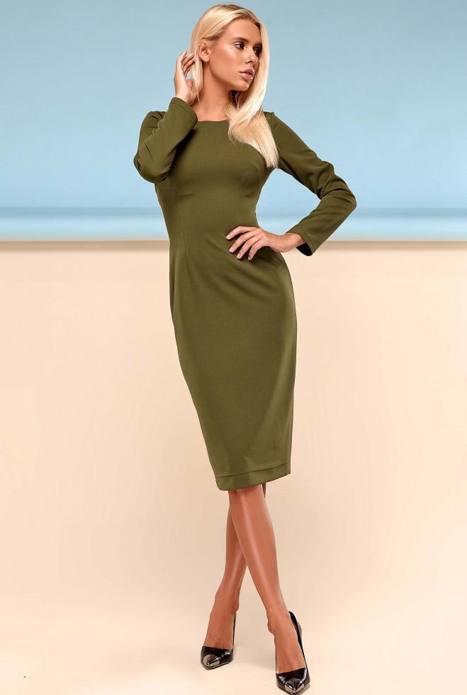 Платье Заира хаки s