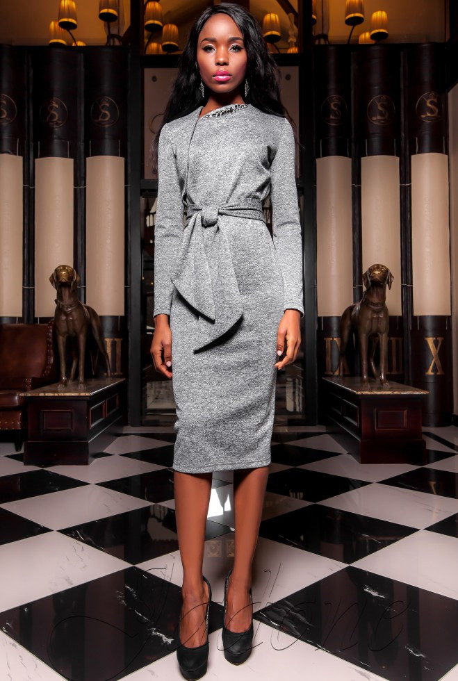 Платье  Шарлиз серый xl