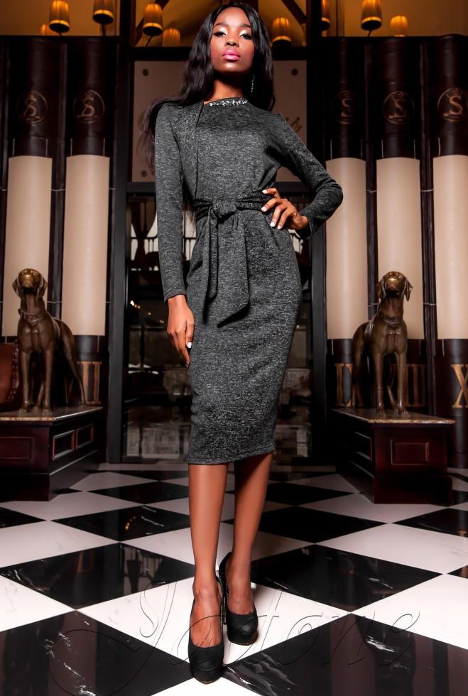 Платье  Шарлиз черный xl
