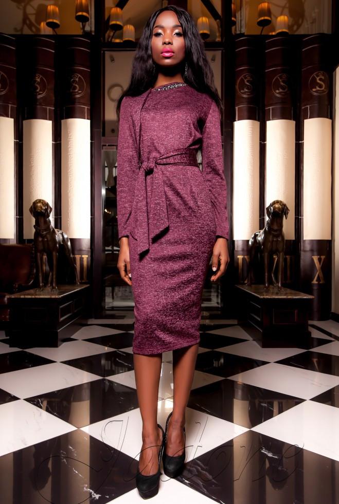 Платье  Шарлиз бордовый xl