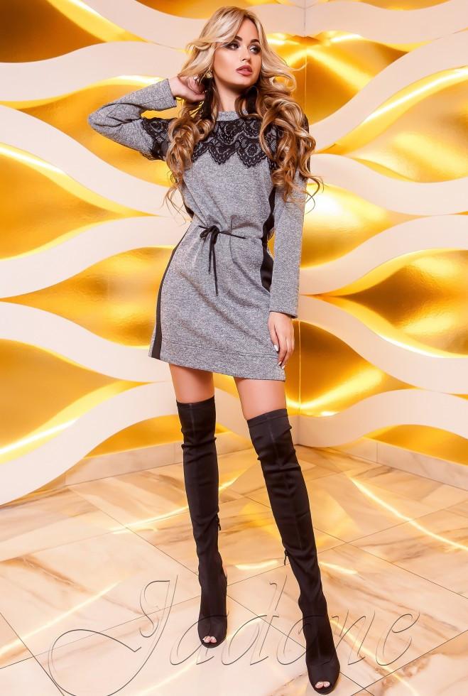 Платье-туника Эрика серый s
