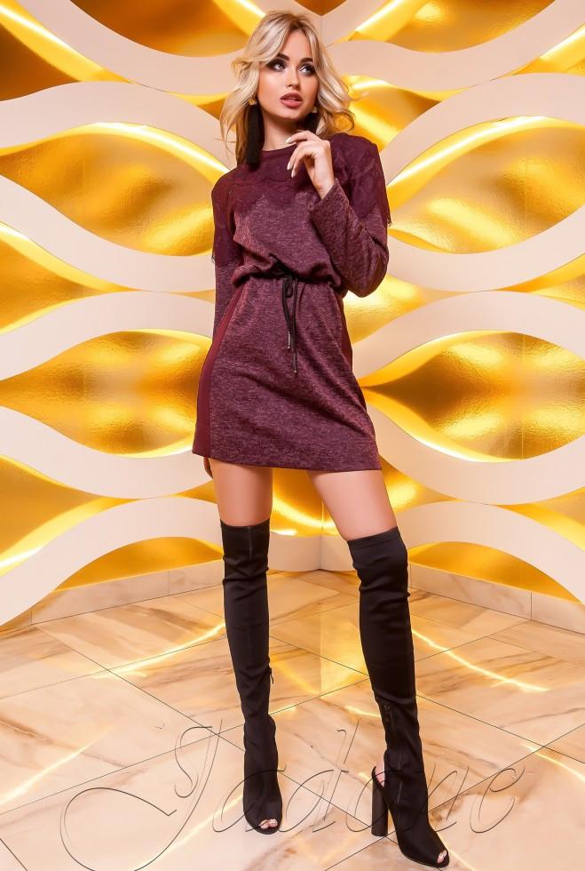 Платье-туника Эрика бордовый s