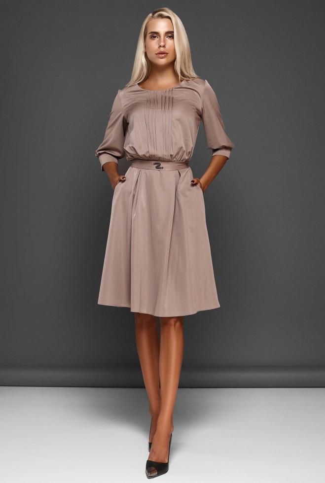 Платье Бетти бежевый xl