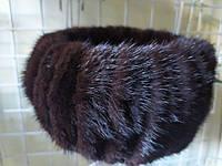 Норковая женская резинка на голову