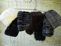 Женская норковая резинка на голову разные цвета