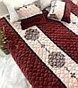 Покривало з подушками бежево-коричневий