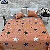 Покрывало с подушками звезды