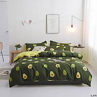 Постельное белье полуторное авокадо
