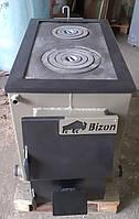 Котел твердотопливный классический Bizon М200П 20кВт с плитой