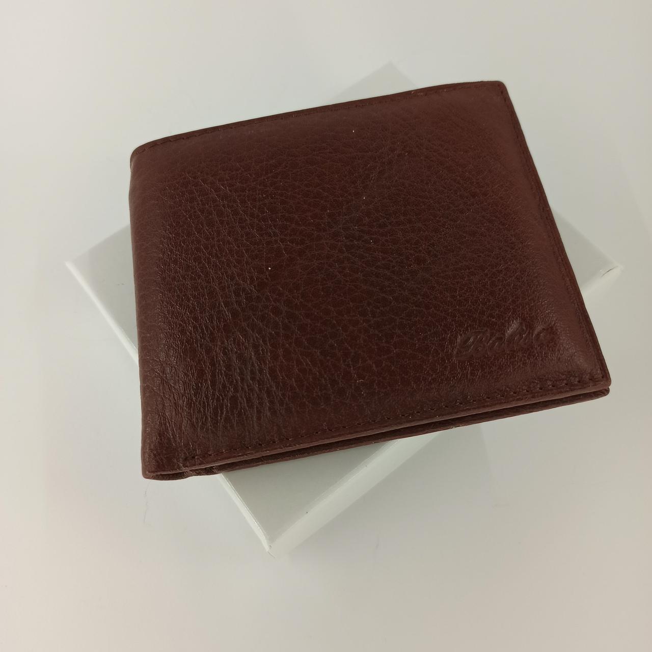 Черный кожаный мужской кошелек портмоне с зажимом для денег Balisa  B88-208I.