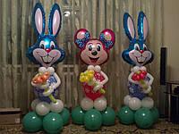 Кролики и Минни Маусы из воздушных шаров