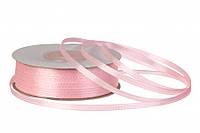 Стрічка атласна 3 мм ніжно рожева