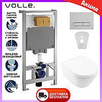 Комплект инсталляция Volle Master и унитаз подвесной Villeroy&Boch Architectura 4694HR01. Инсталляция + унитаз