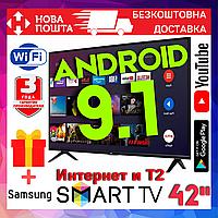 Телевизор 42 Samsung UHD 4K Smart TV Android 9.0 WIFI T2 Смарт тв Самсунг Гарантия Новинка 2020