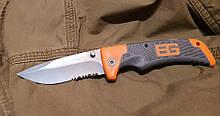 Охотничий складной нож реплика BearGrylls VG4 c cеррейтором для охоты, рыбалки, туризма