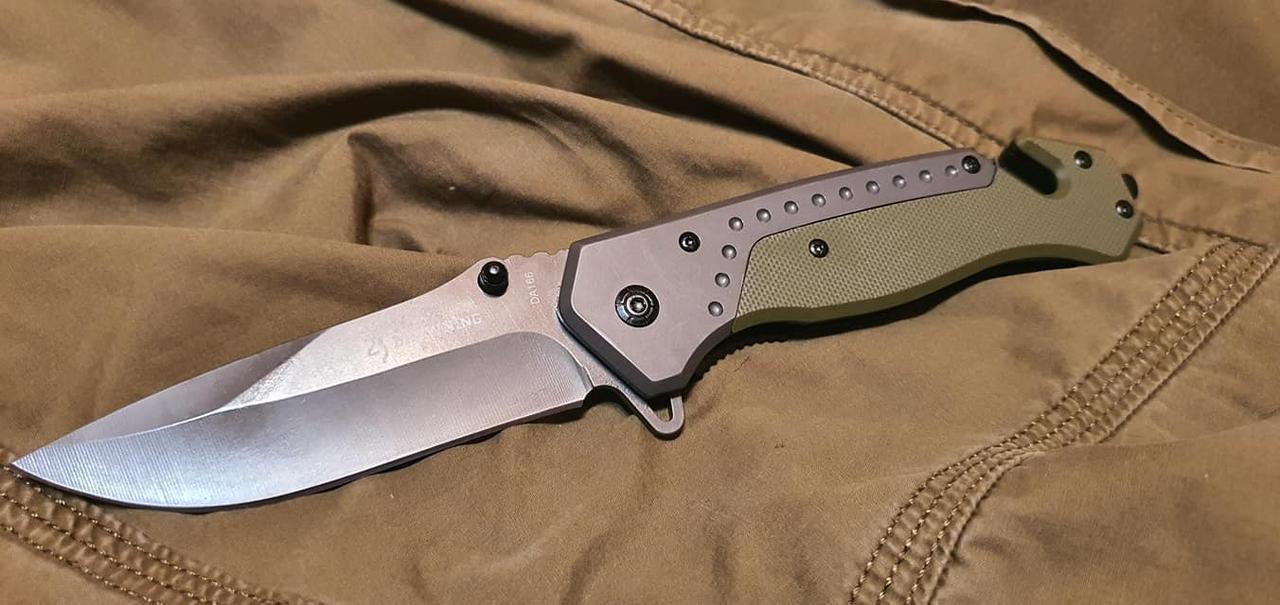 Складной нож Browning A835 реплика в оливе со стропорезом