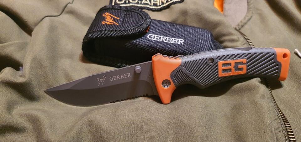 Нож складной Bear Grylls Gerber EE-7 с Серейтором реплика