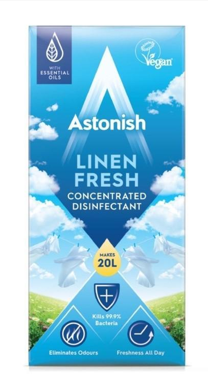 Суперконцентрат для дезінфекції та чищення Astonish Linen Fresh 500 ml.