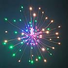 Гирлянда Одуванчик, Фейерверк, 50 LED, 25 нитей, Мультицветная, проволока, 1шт., от сети., фото 2