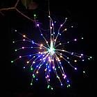 Гирлянда Одуванчик, Фейерверк, 50 LED, 25 нитей, Мультицветная, проволока, 1шт., от сети., фото 5