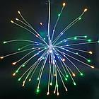 Гирлянда Одуванчик, Фейерверк, 50 LED, 25 нитей, Мультицветная, проволока, 1шт., от сети., фото 6