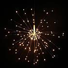 Гирлянда Одуванчик, Фейерверк, 50 LED, 25 нитей, Золотая (Желтая), проволока, 1шт., от сети., фото 4