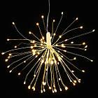 Гирлянда Одуванчик, Фейерверк, 50 LED, 25 нитей, Золотая (Желтая), проволока, 1шт., от сети., фото 5