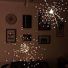 Гирлянда Одуванчик, Фейерверк, 50 LED, 25 нитей, Золотая (Желтая), проволока, 1шт., от сети., фото 6