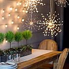 Гирлянда Одуванчик, Фейерверк, 50 LED, 25 нитей, Золотая (Желтая), проволока, 1шт., от сети., фото 8