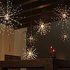Гирлянда Одуванчик, Фейерверк, 50 LED, 25 нитей, Золотая (Желтая), проволока, 1шт., от сети., фото 9